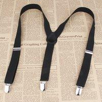Wholesale Y back Suspenders Clip on Adjustable women Unisex adult solid Pants dress Y shape Suspender Braces Black Elastic belts for men NEW
