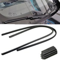 Wholesale 2 X Universal Black Car Styling AccessoriesVehicle Frameless Replacement Rubber Wiper Blade Refill quot mm Wipers gm176 A5