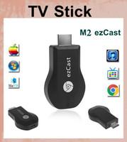 Wholesale android tv stick mini digital tv stick M2 EzCast TV Stick HDMI P Miracast DLNA Airplay wifi tv cloud stick Support Windows iOS OTH033