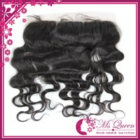 Wholesale 100 human hair quot x quot free part lace frontal hair pieces virgin body wave human hair remy Indian Lace Frontals quot quot
