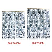 Wholesale New Design Fashion Home Polyester Marilyn Monroe Pattern Waterproof Bathroom Fabric Shower Bath Curtain size