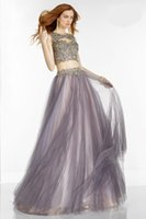 Actual Images black and pink prom dress - 2016 Two Pieces Prom Dresses Black and Nude Backless Lace Dress Short Eveing Gown Cheap