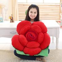 beautiful pandas - 1PCS New Arrival Colorful Rose Cushions Flower Stuffed Plush Toys Beautiful Girls Loved Gifts YZT0001