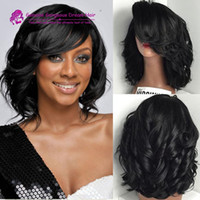 french lace for wigs - Wavy Short Full Lace Human Hair Wigs Glueless Bob Lace Front Wig With Baby Hair Bleached Knot For Black Women