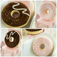 best chair cushion - Large Chocolate donuts pillow thickening pie chair cushion multi purpose nap pillow Home Decoration Creative cookie best gift E352J
