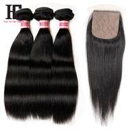 Cheap silk base closure with bundles Best 3 bundles with silk closure