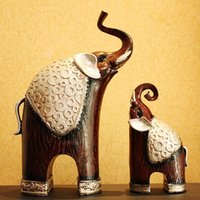 Wholesale New Arrival Elephant Home Decor Resin Craft Wedding Gifts Mother And Child Elephant Decoration Home Accessories Crafts JP0005 Smileseller