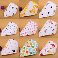 MIXED COLOR animal print baby items - Free Epacket New Arrival Spring Summer Cotton Baby Bibs Infant Layer Cartoon Bib Baby Feeding Bibs In Stock Items