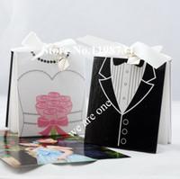 album wedding favors - Wedding Favor Side by Side Bride and Groom Photo Album Favors Set of
