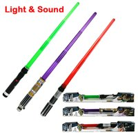 Wholesale new arrival Star Wars Electronic Laser Saber with Sound and Light Darth Vader Anakin Skywalker Obi Wan Cosplay Weapon Sword lightsaber