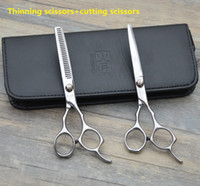 Wholesale Hairdressing Hair cutting scissors Professional thinning scissors Household Barber tools Inches High quality order lt no track