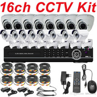Cheap Free shipping sale best top selling 16ch cctv kit whole cctv system ir sony 700TVL security camera 16ch HD DVR network recorder