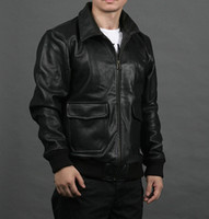 aviator flight suit - Fall Factory Flight Aviator Pilot Jackets For Men Genuine Cowhide Leather Coat Bomber Motorcycle Biker Suit Winter Male Jaqueta ZH055
