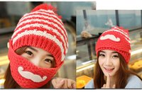 Wholesale Ms thickening knitting wool hat Add wool in winter to keep warm hat Masks hat Berry cap dome cap