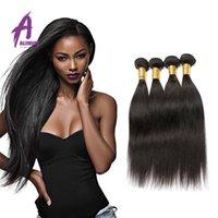 Wholesale Brazilian Hair Weave Bundles A Brazilian Peruvian Malaysian Virgin Hair Straight Alimice Unprocessed Virgin Brazilian Straight Hair