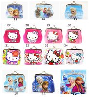 3d holiday gifts - 2015 Girls D Cartoon Frozen Coin Purse with iron button Anna Elsa Olaf shell bag wallet Purses children Gifts For Holidays Christmas free