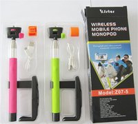 Wholesale Z07 Wireless Bluetooth selfie stick Extendable Monopod Tripod With Shutter Release Over ios android Smartphon Free DHL