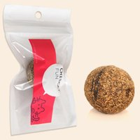 ball safe - Pet Cats Natural Catnip Treat Balls Favor Home Chasing Toys Healthy Safe Edible Treating Cats Favor food grade newest