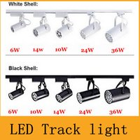 Wholesale Black White Shell W W W W W Led Track Lights Angle Warm Natural Cool White Led Ceiling Spot Lights AC V CE ROHS CSA UL