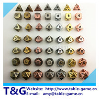 Wholesale TOP Quality NEW Metal Dice set d4 d6 d8 d10 d d12 d20 for Board Game Rpg Dados juegos de mesa dungeons dragon dice