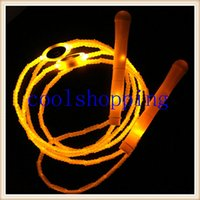 Wholesale DHL Freeshipping Multi color led flashing jump rope Shiny jump rope luminous jump rope glowing skipping rope