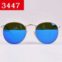 gold sunglasses - New Round Metal Sunglasses Designer Eyewear Gold Flash Glass Lens For Mens Womens Mirror Sunglasses Round unisex sun glasses