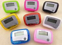 Wholesale Hot sale Pocket LCD Pedometer Mini Single Function Pedometer Step Counter LCD Run Step Pedometer Digital Walking Counter