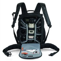 Wholesale lowepro back aw digital camera bag photo backpacks come with authentic all weather waterproof cover JJ05