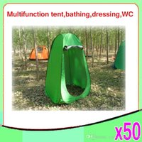 Wholesale High Quality Outdoor Bath Tents Camping Beach Simple Removable Waterproof Dressing Room Shower Tent Bathing Tents ZY ZP