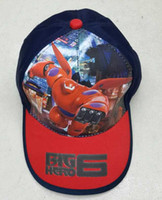 Wholesale Super Marines Big Hero Adjustable Baseball cap Children cap Sun hat