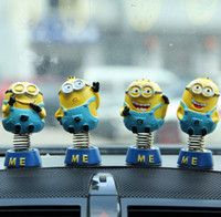 Wholesale New Minions Despicable Me Action Figures Toy X4X8 CM Resin Minion Dolls for Car Interior Spring Decorations