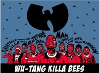 bee posters - Wu Tang Killa Bees Home Decoration Wall Sticker Print Stylish Retro Decor Nice Print Poster x75cm KO