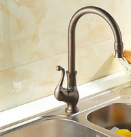 Bronze bathroom vanity - Kitchen faucet Antique Brass Bathroom Basin Sink Faucet Swivel Spout Vanity Sink Mixer Tap Single Handle