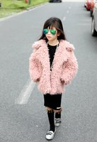 Wholesale New Fashion Girls Faux Fur Coat Thick Outwear Kids Autumn Winter Coat Tassels Luxury Down Coat