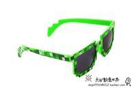 Wholesale NEW MINECRAFT creeper sunglasses creeper glasses knickknack green blue GOOD QUALITY K101F