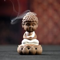 Wholesale Ovens sandalwood furnace small incense burner buddha with decoration ceramic aromatherapy furnace