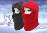 Wholesale Scarfs For Women Hood - New fashtion Plus velvet hats winter caps scarf with hood hats for men winter hats hot men women warm wool hat women knitted hat winter hat