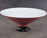 antique pink bowls - Qing imperial kitchen hats bowl Jingdezhen ceramics Antique antique porcelain antique ornaments single glazed bowl