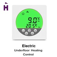 Wholesale New Floor Heating Thermostat with Green Backlight Weekly Programming Digital LCD Display Thermostat Room Temperature Controller