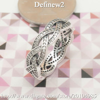 Wholesale 2015 Real Time limited Cluster Rings Rings Sterling Silver Ring Twist of Fate with Clear Cz European Style Women Fashion Jewelry Df596