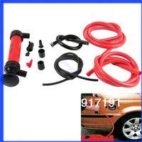 air transfer kits - Car Tire Water Oil Fuel Change Transfer Gas Liquid Pipe Siphon Tool Air Pump Kit order lt no track