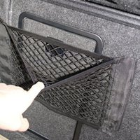 Wholesale 1PC Car Back Rear Trunk Seat Elastic String Net Mesh Storage Bag Pocket Cage Car Seat Storage Net