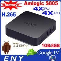 Cheap Amlogic s805 Android 4.4 Quad Core Smart TV BOX XBMC HD 1080P Wifi Media Player 1G 8G 4K MXQ