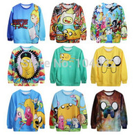 Wholesale EAST KNITTING Harajuku Hot Sale New Punk Women Sweatshirt D Print Adventure Time Casual Hoodies