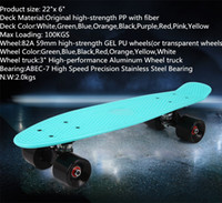 banana board wheels - Upgraded pastel color banana board mini cruiser long skateboard four wheel street longboard