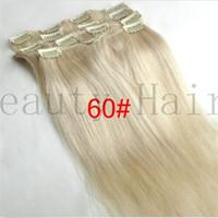 clip in human hair extensions 160g - Clip In Hair European Virgin Clip In Hair Extensions Full Head Clip On Human Hair g