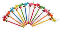 Wholesale 200pcs Children Cartoon Windmill Wood Pencil fan Pencil Stationery Office