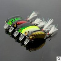 Wholesale New cm g plastic road sub bait laser bionic crank bait fishing lure with feather hook CB027