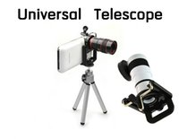 Cheap new 8x Zoom Optical Lens Universal Telephone Telescope Camera For Mobile Phone Android Phone With Tri + Holder