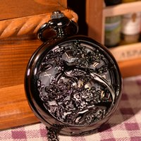 antique magnifying glass - Hot Sell Fashion Style Birds Roma Number Magnifying Glass Retro Mechanical Pocket Watch For Men Women Gift Watch